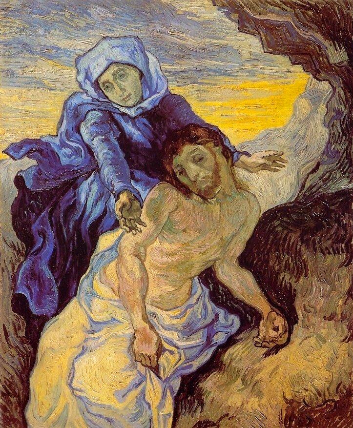 고흐의 피에타 작품은 다른 화가들의 작품과  다릅니다.